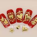 Free Shipping,200pcs 5mm, silver golden star 3D metal nail art decoration spike Studs Rivet Sticker ,Leather craft DIY Rivet