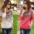 2013 Autumn/Winter Casual Korean style Cotton Hoodies For women,Fashion Women's outwear,Plus Size,LJ635