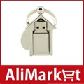 2GB Metal House USB Flash Drive with Keychain (Silver)