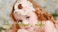 Min.order is $10 (mix order) New Headband Baby Hairband Kids Flower Hair Accessories Children Flower Elastic Headband