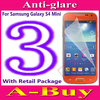 Matte Anti-Glare Anti Glare Screen Protector Protection Guard Film For Samsung Galaxy S4 Mini i9190 i9195,With Package+3pcs/lot
