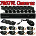CCTV Security 700TVL 8CH DVR IR Camera System Color Video Surveillance DIY Kit Mobile View Network Motion Detection Email Alarm