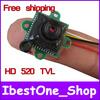 Free Shipping! Hotsale 520TVL HD & Excellent Night vision Camera, Mini CCTV Camera, Small CMOS Security camera module