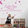 [Stay With You] I love you to the moon and back again quote vinyl wall decal decorative sticker 1pc retailer