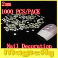 [XMDL-039]1000PCS/Pack Nail Metallic Decoration 3D Metal alloy Nail Art Decoration + Free Shipping
