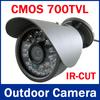 IR-CUT Filter 700TVL ! Newest most popular 700TVL Waterproof Outdoor mini CCTV Camera, CMOS sensor, 30 IR Led