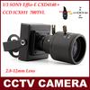 "1/3"" SONY Effio-E CCD 960H CCTV Camera 700TVL With 2.8-12MM Varifocal Lens And OSD Menu Surveillance Mini Camera Security"