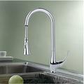 Free Shipping Wholesale And Retail Promotion New Chrome Brass Swivel Spout Kitchen Faucet Vessel Sink Mixer Tap Dual Spouts