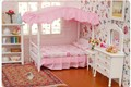 iland 1:12 Dollhouse Miniature Bedroom Furniture CANOPY Bed Dresser 3PC WB002