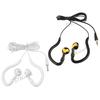 2pcs 3.5mm Sport Running Ear Hook White Black Earphone Headphone Headset for iPhone Samsung iPod MP3 MP4 iPhone MI2 iPad HTC
