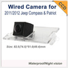 """CCD 1/3"""" car rearview waterproof For 2011/2012 Jeep Compass & Patriot rear night version car parking camera Wired"""