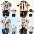 RETAIL 2013 Children's Clothing Sets cotton coat+T-shirt+pants Baby Boys Clothing sets Kids 3pcs suit sets