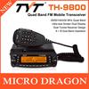 Free by EMS Professional TYT TH-9800 Auto Radio Station Quad Band 29/50/144/430MHz & 26-950MHz Coverage VV,VU,UU Receiver Design
