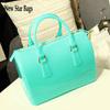 2014 hot fashion women jelly shoulder bag pillow designer candy colors handbag elegant messenger bags HL2A