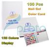 Wholesale 100pcs/lot Nail Polish Color Book UV Gel Color Card Nail Color Display Chart Nail Tech Book Brand New SKU:F0192XX
