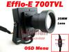 New Arrival Mini CCTV Camera High Resolution Sony Effio-E 700TVL 25mm Board Lens Security Box Color CCTV Camera