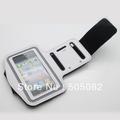 white Gym Jogging mobile Phone Arm Band Case holder cover bags For iphone 5 5G 5S 5C Solf Belt Neoprene Running Sport Armband
