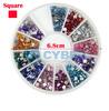 Hot Sale 600pcs Mix 12 Color Square Shape Beautiful Acrylic Nail Art Rhinestones Glitters Nail Art Gems Decoration 16122