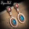 Special Ethnic Zircon Pendant Earrings Free Shipping Handmade Dangle Earrings For Women ED141199