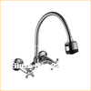 Copper Sink Chrome Dual Handle Deformable Pipe Wall Mount Kitchen Faucet Handles Mixer Tap Water Torneira Cozinha Grifo Cocina