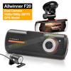 2.7' LCD Dual Lens Car DVR F90G + GPS Logger +1920x1080p 20FPS+External IR Rear Camera+Allwinner CPU