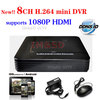 Network 8ch CCTV DVR 1080P HDMI recording Mobile Phone View 8ch stand alone DVR Recorder, free DDNS Free Shipping