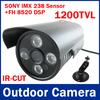 SONY IMX138 + FH 8520 DSP IR-CUT HD CMOS 1200TVL 1280X960 Waterproof Outdoor /Indoor Video Camera, CMOS sensor, 4 Array IR Leds