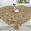 TOP QUALITY!! 2013 fashion new autumn gold color embroidery table cloth for wedding hotel home textile(90*90cm) No.222-J