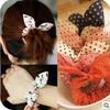 Min order $10(mix order) H026 Free shipping, New Cute Dot Fabric Rabbit Ear girls woman hairbands Hair rope