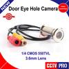 "New Upgrade 1/4"" 550TVL CMOS 3.6MM CCTV Mini Door Eye Hole Hidden Security Color Camera Doorview CCTV Camera"