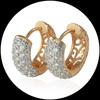 18K Gold Filled Earring CC Hoop Earrings For Women Joyas Brincos Bijoux Jewelry Ring Earings Fashion 2013 Free Shipping E18-49