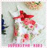 Hot Sale! Free Shipping! 2014 New Childrens Dress Girls Summer Vest Dress Kid's Printing Flower Dress Girls Princess Dresses
