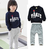 Kids Girls Clothing Sets frozen peppa pig children's suit T shirt + pants Jeans 2pcs autumn girls sweater suit Mickey sports