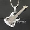10pcs Black Guitar Pendant Music Guitar Necklace Bass Pendant Jewelry Free Shipping wholesale