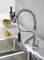 Top Quality New Pull Out Faucet Chrome Water Power Swivel kitchen Faucet Sink Mixer Tap Double Handle 3.3kg FREE SHIPPING BY DHL