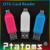 2014 HOT Universal Card Reader Mobile phone PC card reader Micro USB OTG Card Reader OTG TF / SD flash memory