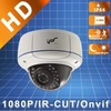 Free Shipping IPS 2.0 Megapixel HD1080P Vandalproof 2.8-12mm Varifocal HD Outdoor IR Dome IP Security Cameras (IPS-EA1824)