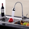 Free shipping Kitchen Faucets With Plumbing Hose All Around Rotate Swivel 2-Function Water Outlet Mixer Tap Faucet, kitchen tap