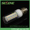 6pcs New arrival E27 AC220V-240V 12W LED lamp 36leds SMD 5730 E27 Warm white/white LED Corn Bulb Light waterproof free shipping