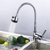 New Single Holder 360 Changing Spray Tap Button Pull Down Kitchen Faucet Mixer Sink Taps-Free Shipping BR-9101