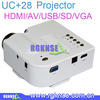 projektor mini projector uc28+ proyector multimedia projector video projectors digital video projectors support HDMI/AV/USBVGA