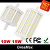 R7S 10W 15W LED Corn Bulb Light Lamp 5730 5630 smd 48leds 24leds LED Spot Light Bulbs AC 85-265V White Warm light Free Shipping