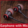 IS-1 New 2014 Brand In Ear Earphone with Mic Microphone For iPhone 5 /Samsung / MP3 / MP4 Noise Canceling Earbuds Headphone