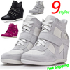 Winter Fur ASH Fashion Breathable Rivet Wedges Sneakers,Genuine Leather 21-styles,Size 35~40,Height Increasing 6cm,Women's Shoes