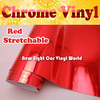High Quality Stretchable Red Chrome Vinyl Wrap Car Wrapping Air Free Bubble Size:1.52*20M/Roll (5ft x 65ft)
