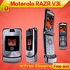 Motorola V3i mobile phone 100% Original Motorola Razr v3i unlocked phone English&Russian keyboard support Free Shipping