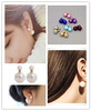 New fashion jewelry trendy double pearll stud gift for women girl E2108