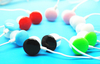 Free shipping fashion lovely colorful candy chocolate candy in ear headphones MP3 player earphones