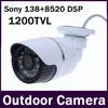 Cmos Image Sensor 1200TVL IR-Cut High Definitio Sony IMX138 CMOS+ FH8520 DSP24 IR Outdoor Waterproof  Security Video CCTV Camera