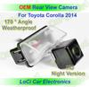 Free shipping! HD Rear View Toyota Corolla 2014 CCD night vision car reverse camera auto license plate light camera